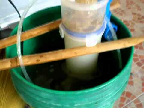 Diy protein skimmer youtube for Homemade pond skimmer