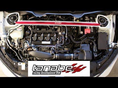 2017 Honda Civic Si Tanabe Strut Bar Install