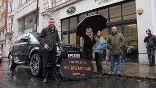 Winner Louise Jones collects her Range Rover Sport!