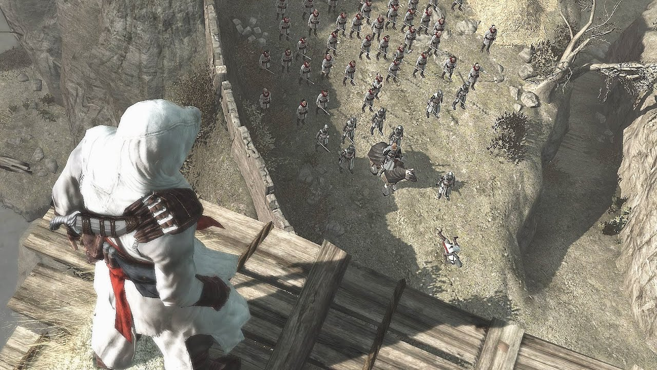 Assassin's Creed 1 Altair Combat & First Ever Leap of ...