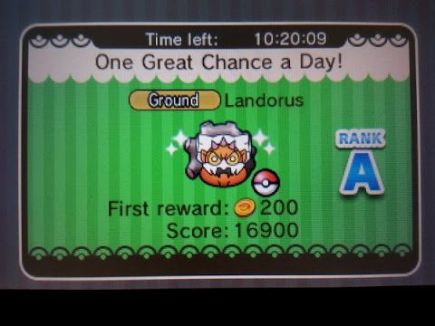Landorus catch Day 1 (Pokemon Shuffle)