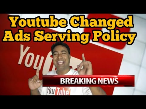 Good Official News : YouTube Changed its Ads Serving Policy on Videos || Master Stroke