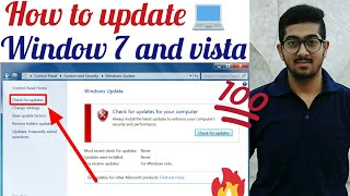 How to update window 7 and vista
