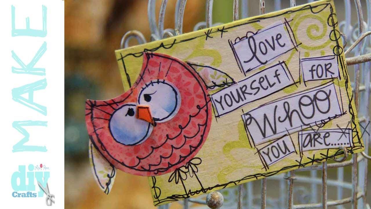 Mixed Media Monday - The whimsical Owl ATC (artist trading ...