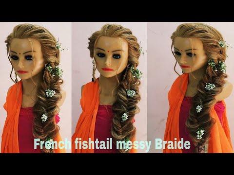 French Fishtail Braid Hairstyle / Khajuri Choti Hairstyle/ How To Make French Fishtail Braid