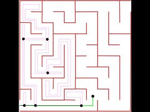 Maze Solving Algorithms: Tremaux's Algorithm Visual Example