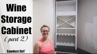 Wine Storage Cabinet (part 2)