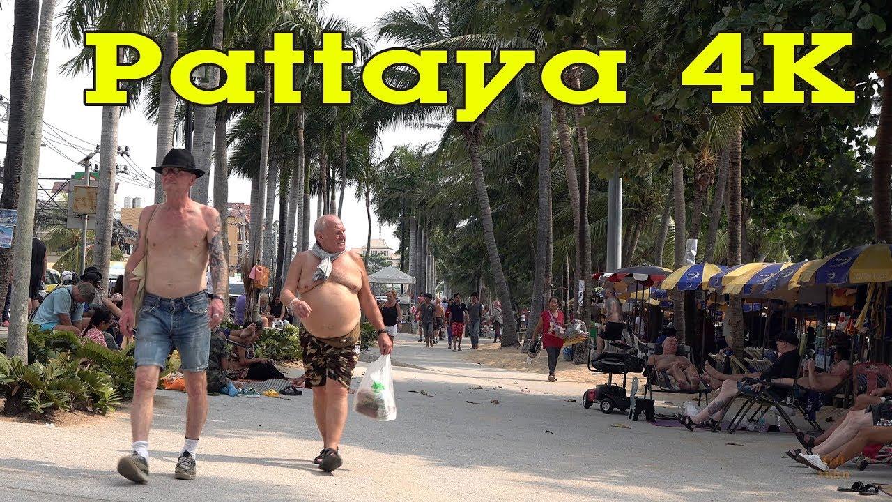Pattaya Thailand 4K.  City, Sights & People