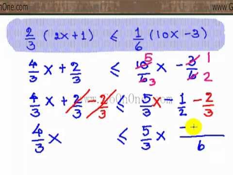 อสมการ เชิงเส้นตัวแปรเดียว EX4