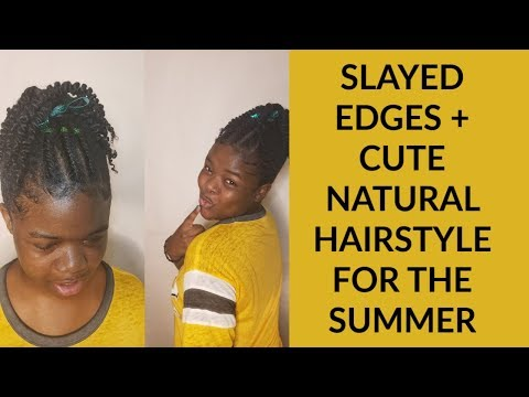 SLAYED EDEGES + CUTE HAIRSTYLE FOR SUMMER thumbnail