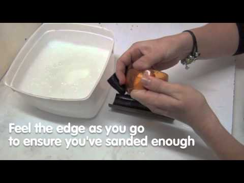 Sanding Resin Bangles