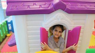 سوار وماسة بالعاب المطار | في المطار | sewar Pretend Play with Playhouse for kids | لعبة بيت .