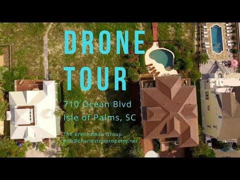Drone Tours with Bob: 710 Ocean Blvd., Isle of Palms, SC