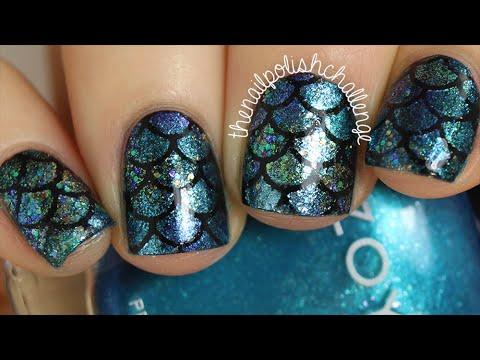 diy mermaid scale nail art