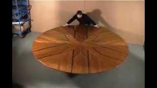 Стол трансформер.(Круглый стол транформирующийся в больший по диаметру за 3 секунды., 2014-02-06T17:19:09.000Z)
