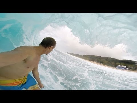 Jamie O'Brien GoPro Angle at Pipeline
