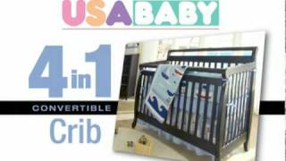 4 In 1 Convertible Crib-$199.99 : Cbm-4cc-12001