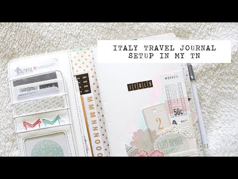 my italy travel journal setup in my wp color crush traveler's notebook (plus my travel kit)