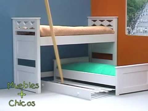 Tipos de camas infantiles nido puente y tradicionales for Cama nido de tres camas