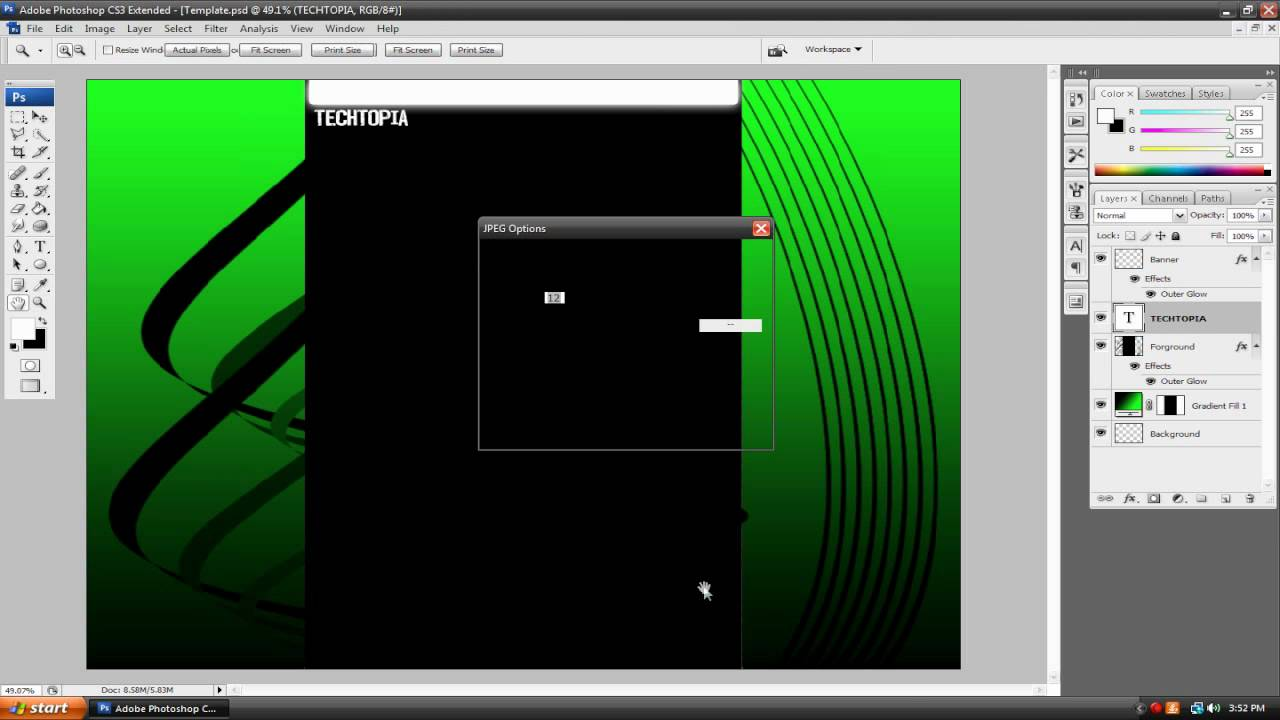 Create a Professional Looking YouTube Channel Background in Photoshop!