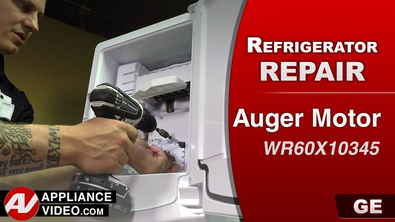 GE , General Electric Refrigerator - No ice being dispensed - Diagnostic &  repair - Auger Motor