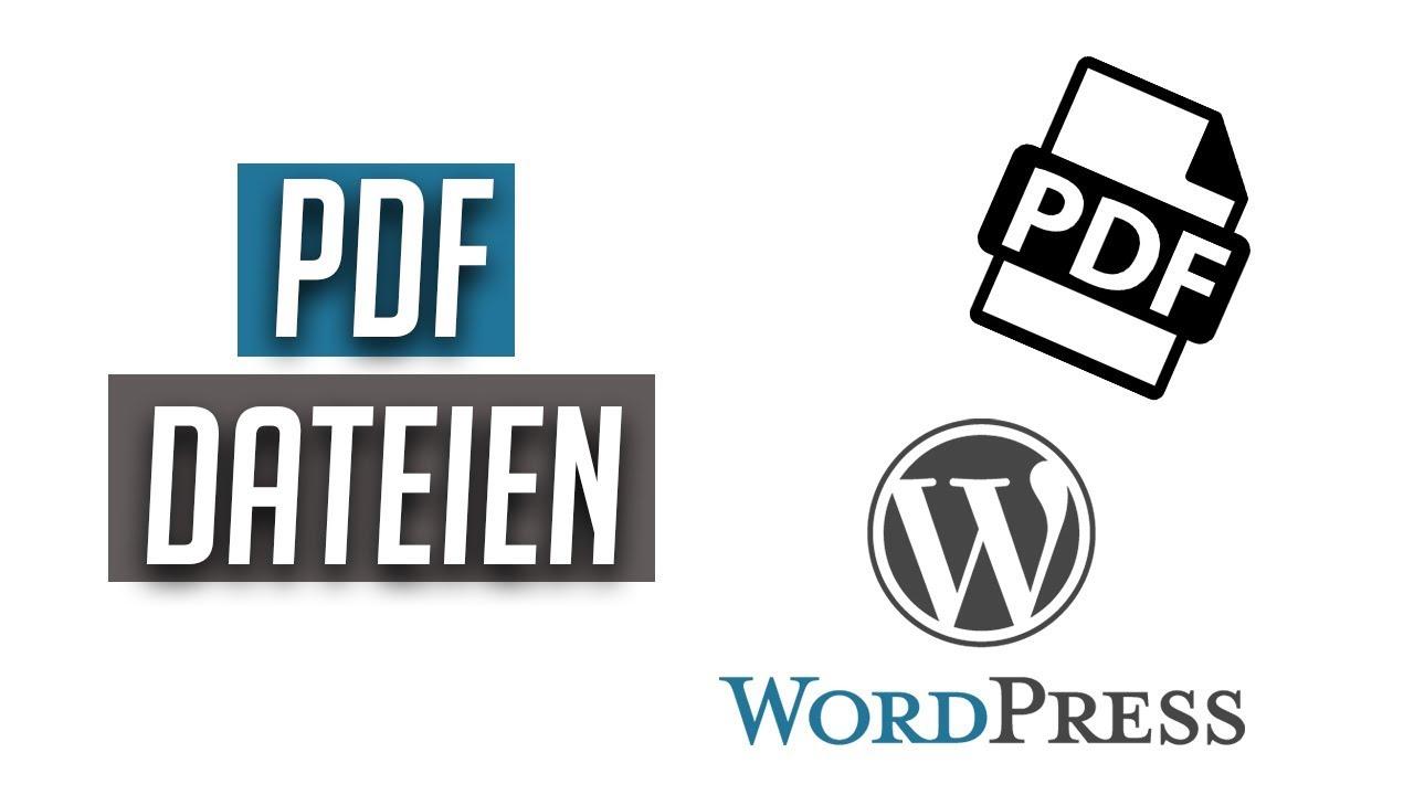 Wordpress Pdf Zum Einbinden