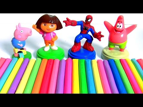 Learn Colors With Play Doh Surprises + Stacking Cups Nesting Kids Toys + Surprise Toys For Children