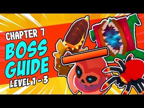 archero:-chapter-7-boss-guide-level-1---3-|-tips-&-tricks-|-snake-plant,-flower,-spider-&-skull-boss