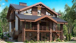 Проект дома в скандинавском стиле из газобетона. Дом с сауной, СПА и террасой. Ремстройсервис М-301