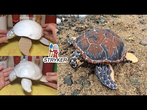 How o Make a Paper Mache Sea Turtle