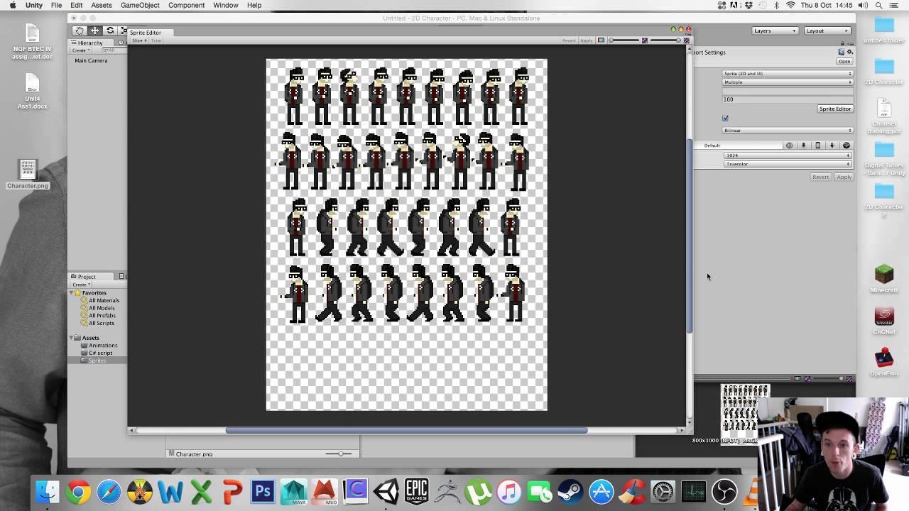 Unity part 1 - Importing sprites & using the sprite editor