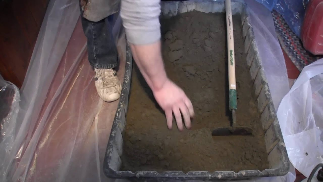 How To Build A Shower Pan How To Mix Deckmud Youtube