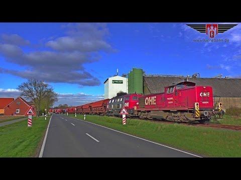 OHE-Doppeltraktion fährt mit Kalizug übers Kleinbahnnetz (Winsen / Luhe - Celle)