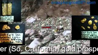 Found nice gold sluicing and prospecting up the East Fork San Gabriel River 4