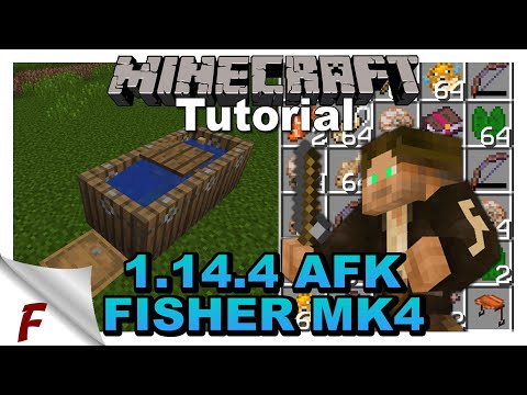 ✅ Minecraft JAVA 1.14.4 Easy AFK Fish Farm MK 4 Frilioth Tutorial Video  Server Friendly.