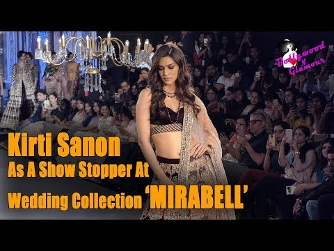 Kirti Sanon Walks The Ramp For Wedding Collection 'MIRABELL' At Bombay Times Fashion Show 2017