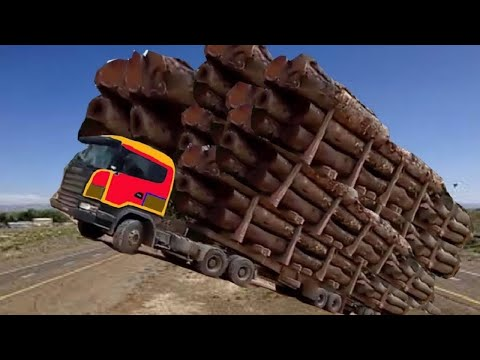 10 Extreme Dangerous Biggest Logging Wood Truck Driving Skill - Heavy Equipment Machines Working