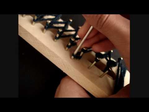 Como hacer una bufanda // Punto Cruzado - YouTube
