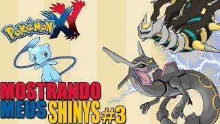Pokémon Y - Mostrando Meus Pokémons Shiny #3 / Especial / Meus Lendários Shinys!!