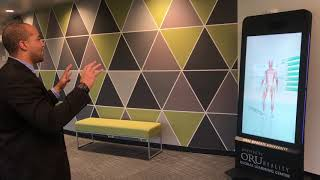 ORU's Digital Mirror: Using Infrared Lasers to Explore Anatomy & Enhance Student Interactions