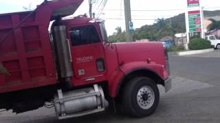 Jake Shifting Freightliner Dump Truck