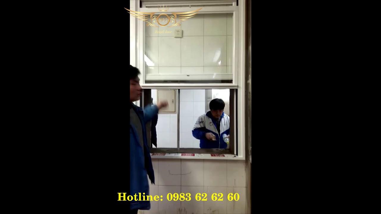 Cửa sổ trượt lên xuống - cửa nhôm nhập khẩu Royaldoor - HCC