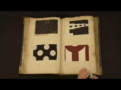 Stalenboek van de Kralingse Katoen Maatschappij. collectie Museum Rotterdam