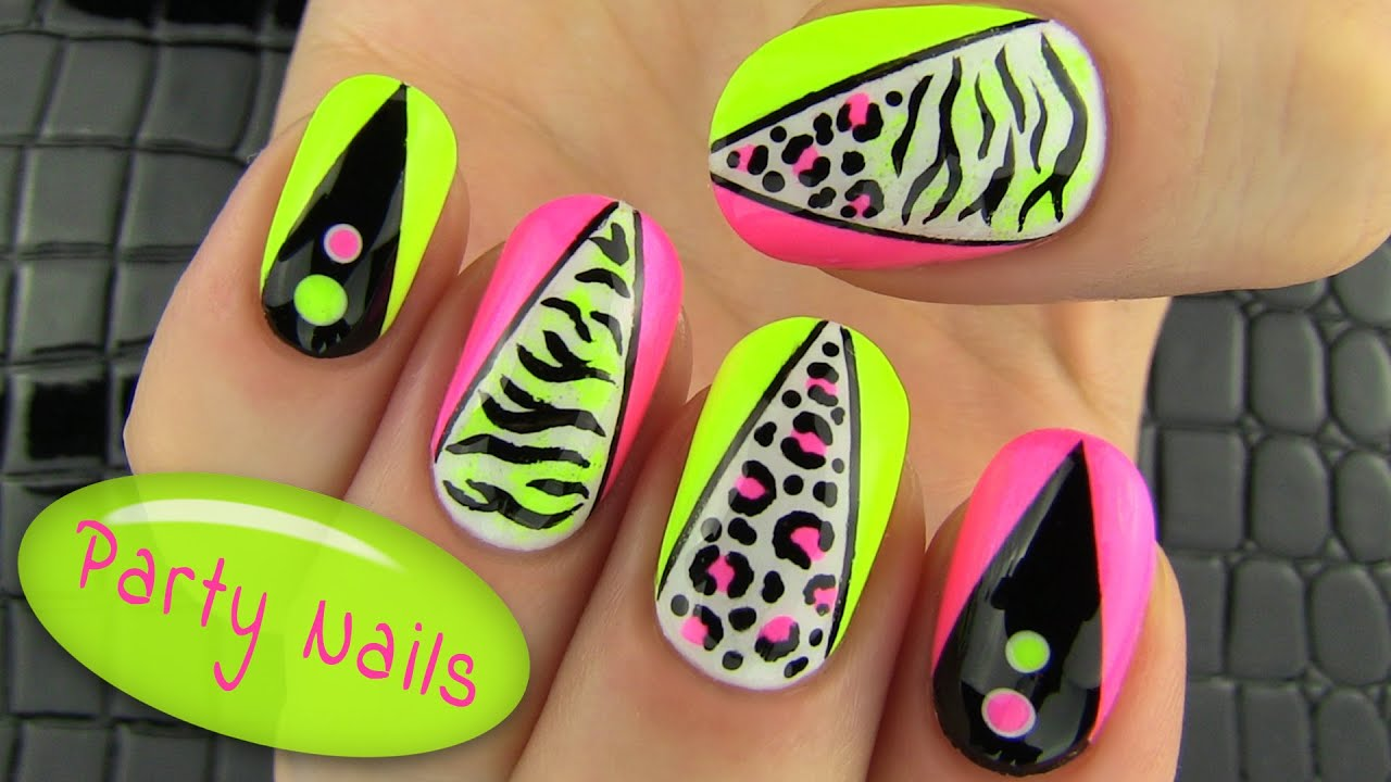 Party nails nail art collab with elleandish janelle youtube prinsesfo Images