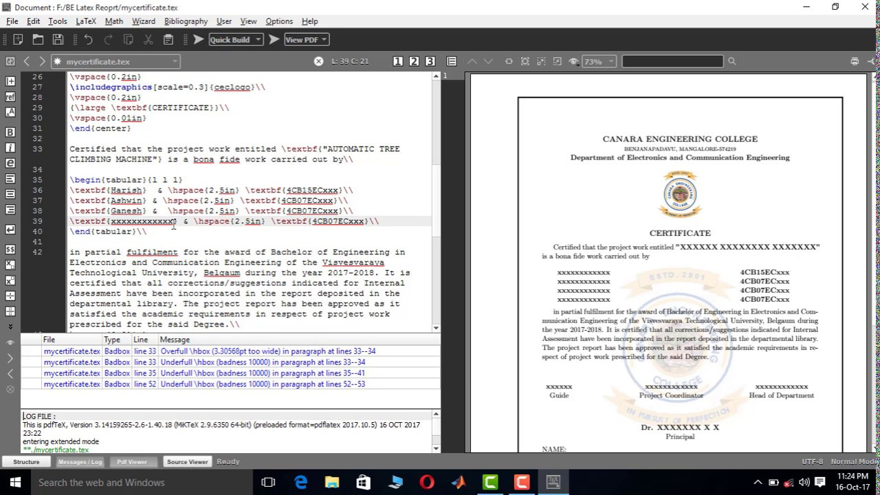 Vtu project report writing certificate page in latex youtube vtu project report writing certificate page in latex yadclub Gallery