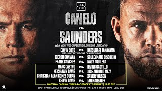 CANELO VS. BILLY JOE SAUNDERS: BEFORE THE BELL