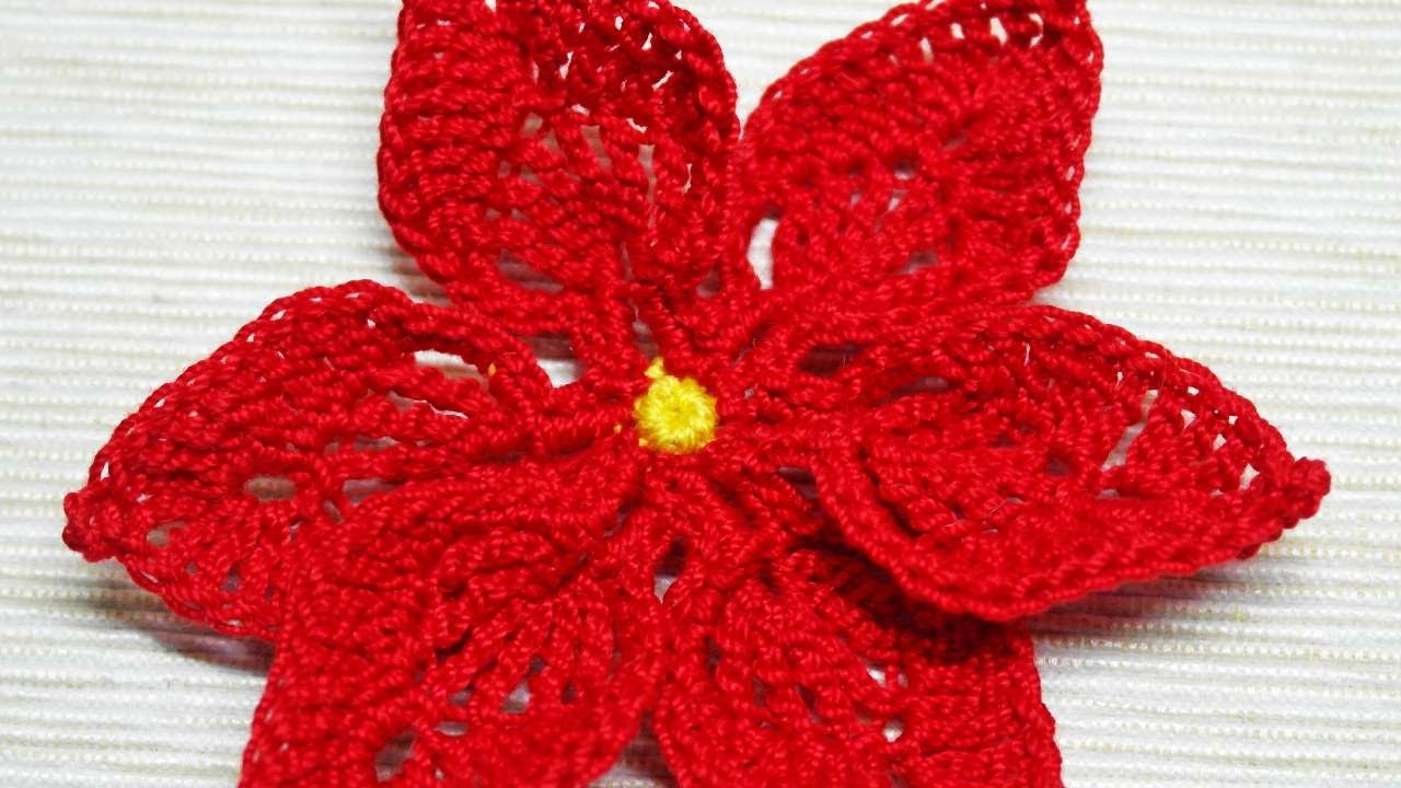 How To Make A Crocheted Christmas Poinsettia Diy Crafts Tutorial