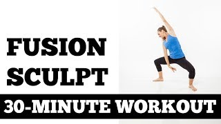 30-Minute Fusion Sculpt, Total Body Strength, Barre, Pilates, Yoga Exercise