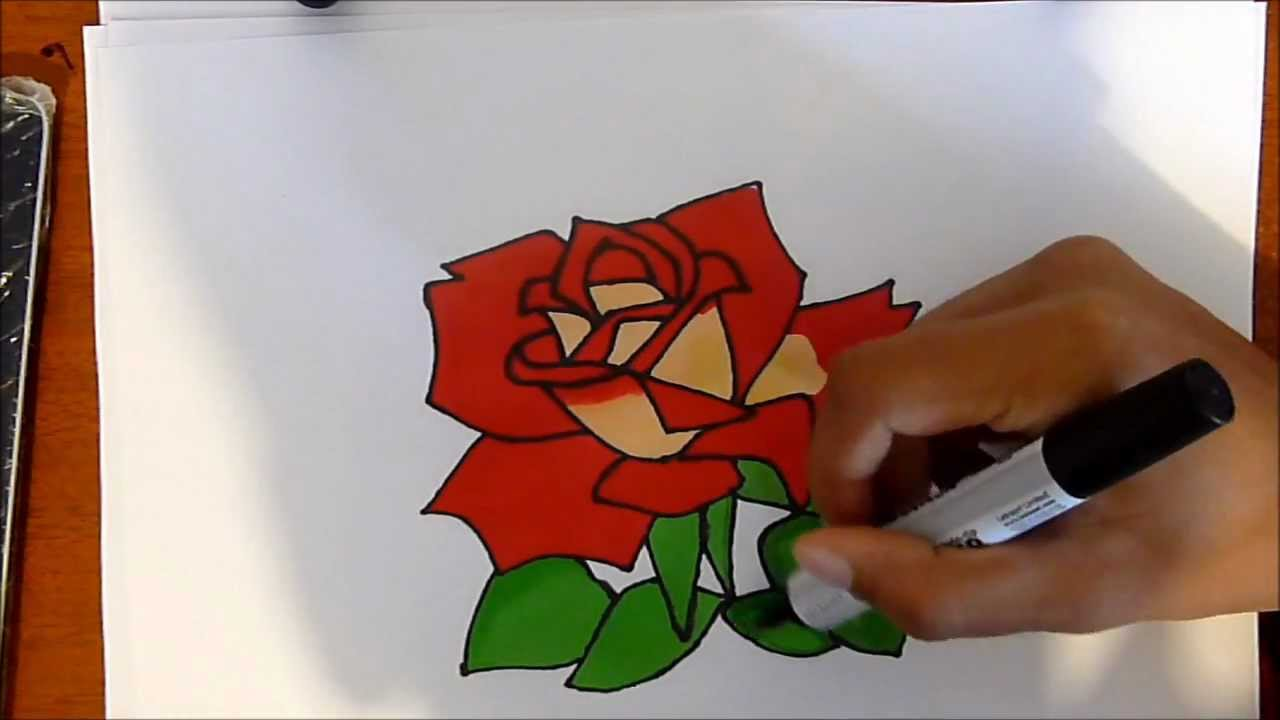 Graffiti Rose Drawing In Colour Easy To Draw