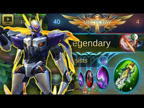 "Mobile Legends : Saber 40% CDR Build | Insane Gameplay 40  Vs 4 ""Noob Enemy""👌😂👊"